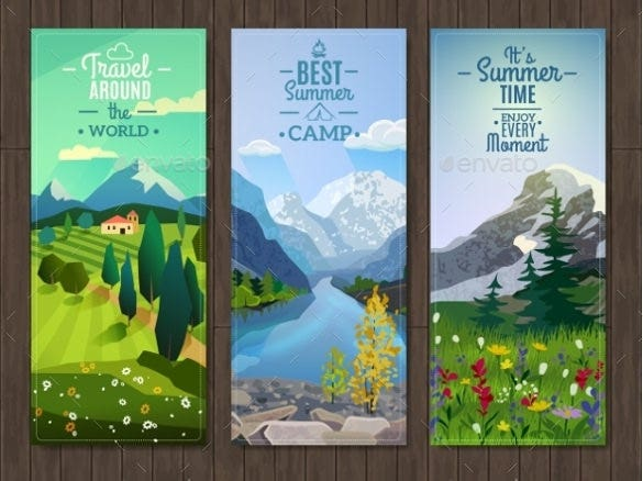 nature sample vertical banner template