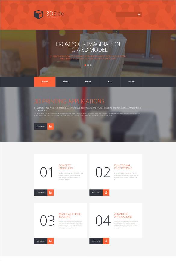 3d side wordpress website theme