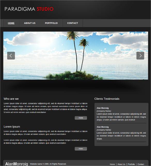 studio 3d slider website template