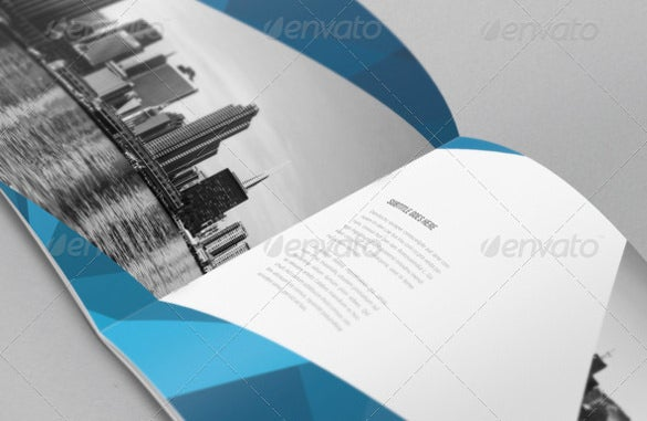 a4 abstract architecture brochure