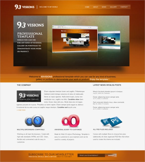 D Website Themes Templates Free Premium Templates - Professional website templates