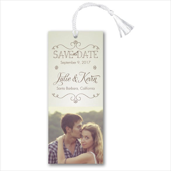 save the date bookmark template with images