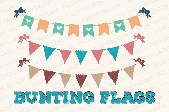 bunting sample bridal shower banner template