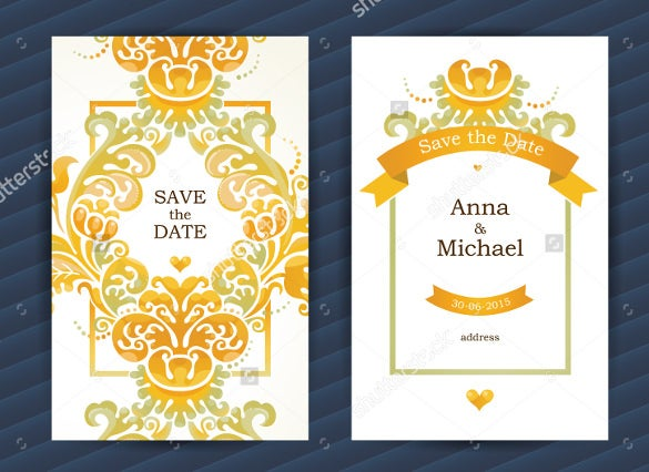 save the date bookmark template easy to download