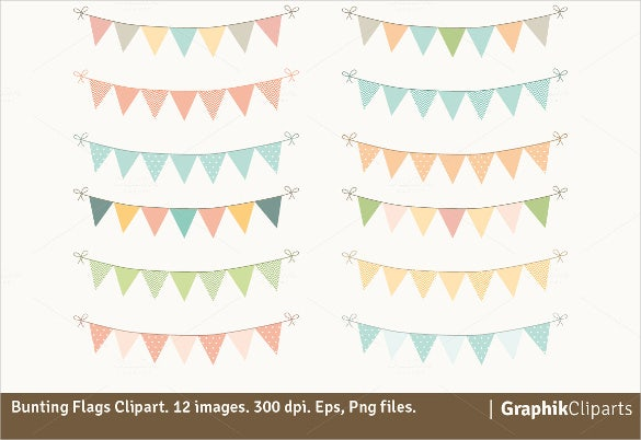 flags bridal shower sample banner template