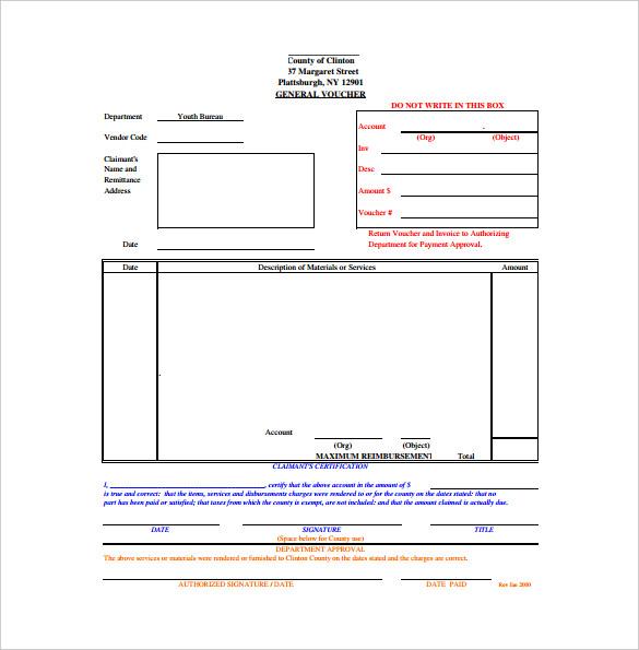 blank general voucher format template download