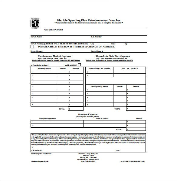 format blank prefeered voucher free pdf template download