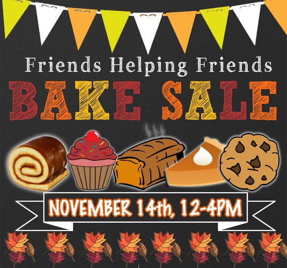 unique bake sale flyer