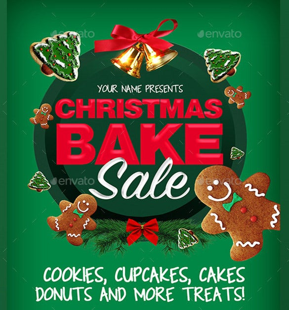 christmas bake sale flyer template