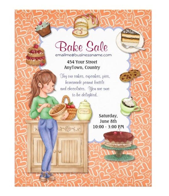 fresh goodness bake sale flyer