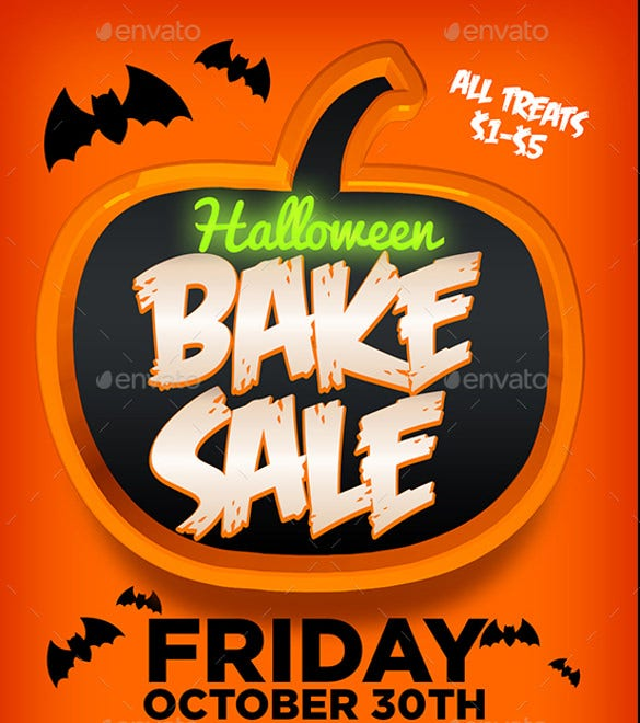 halloween bake sale flyer template