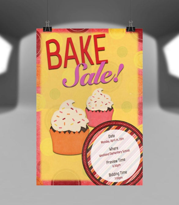 personalized bake sale flyer