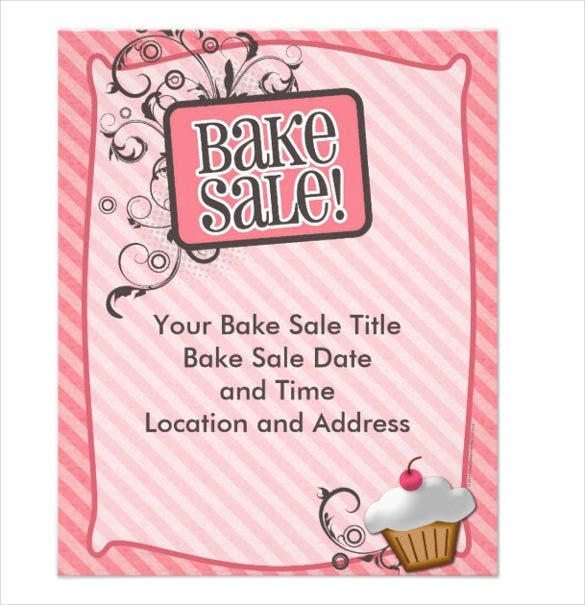 small bake sale flyers