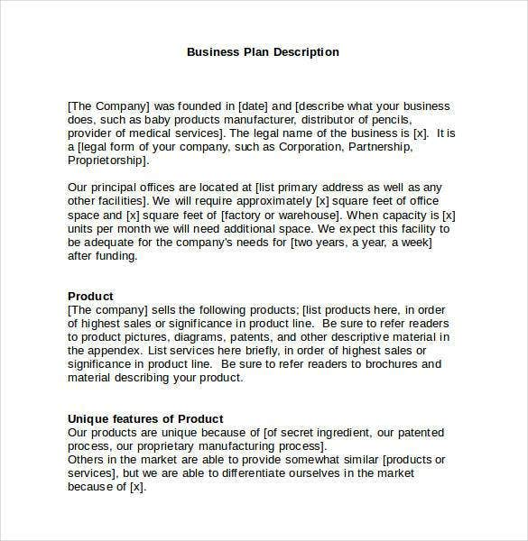 Business plan templates 43 examples in word free premium basic business plan template word accmission