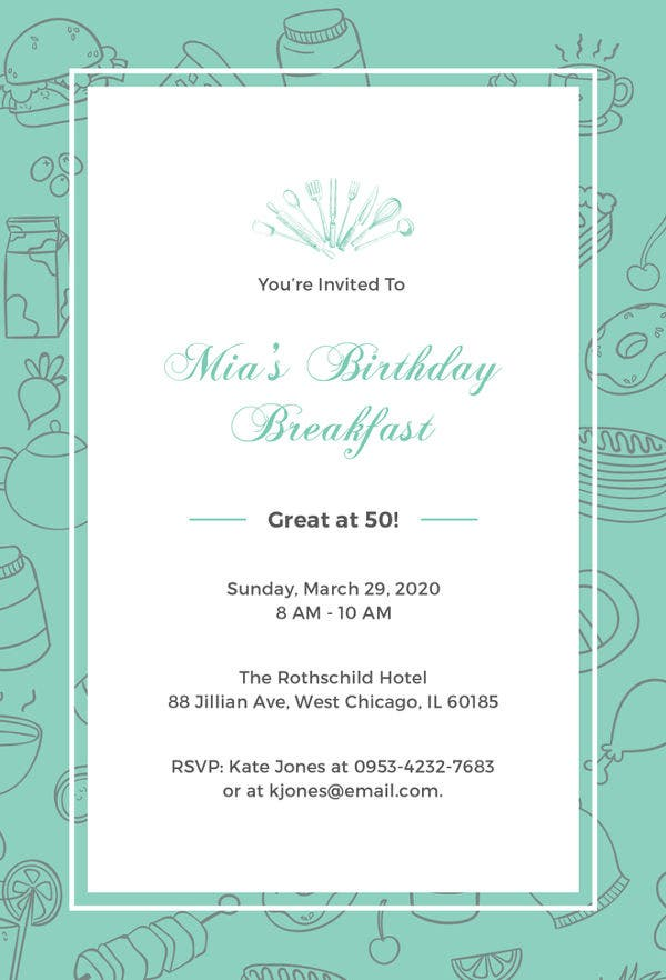 30 birthday invitation templates free psd ai vector eps format birthday breakfast invitation template filmwisefo