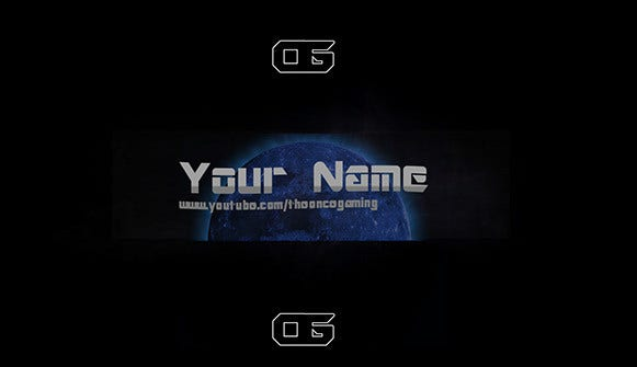 blue moon youtube banner template