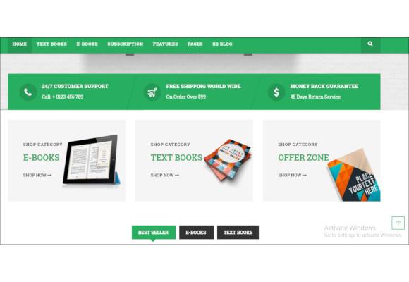 bookstore responsive joomla ecommerce template