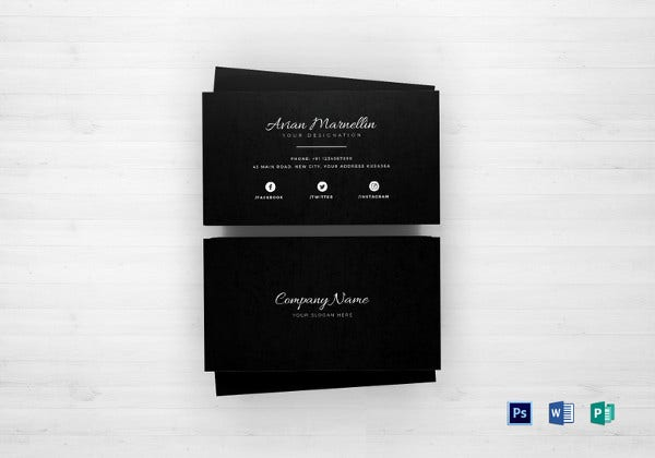 business card template in psd