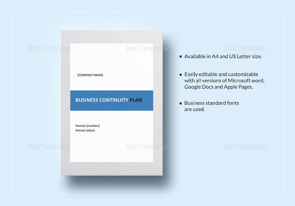 Business plan templates 43 examples in word free premium business continuity plan template friedricerecipe