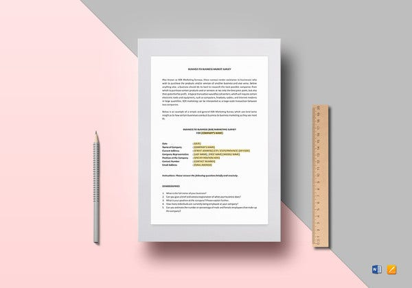 business survey template to print