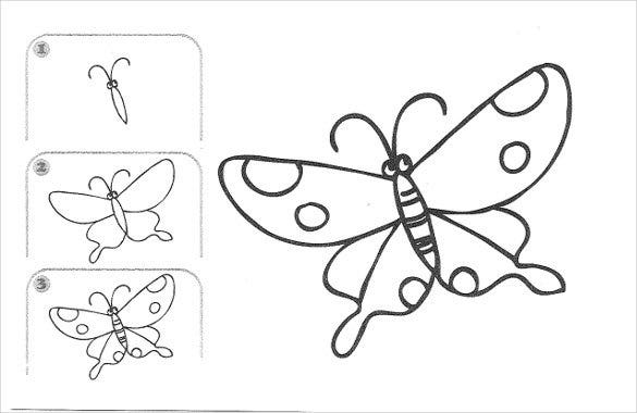 butterfly easy drawing template1