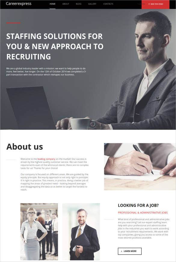 career education responsive website template1