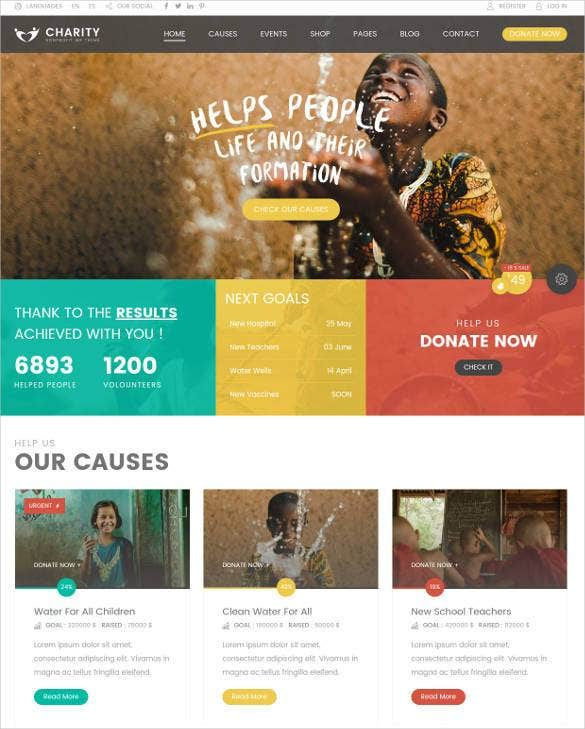 charity hub foundation css wp theme1