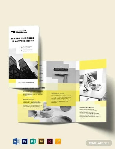 commercial tri fold brochure template