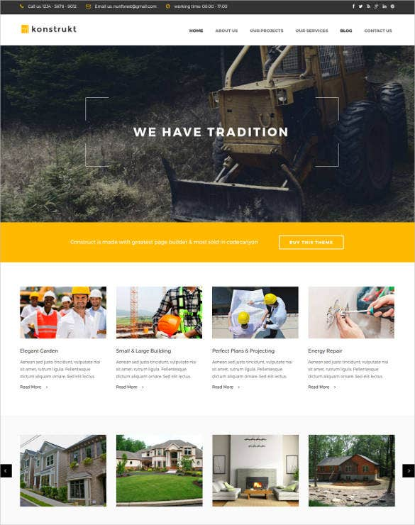 construction industry drupal bootstrap blog theme1