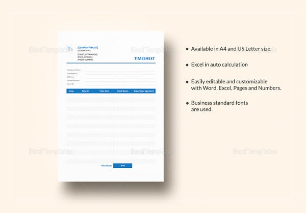 editable blank timesheet template
