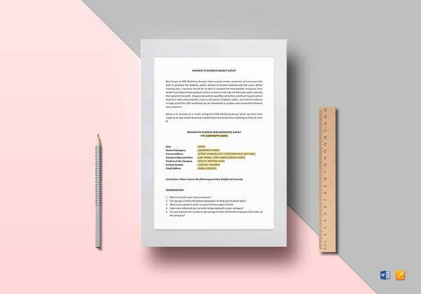 editable-business-market-survey-template
