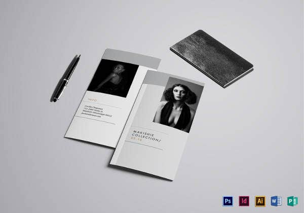 editable fashion tri fold brochure template