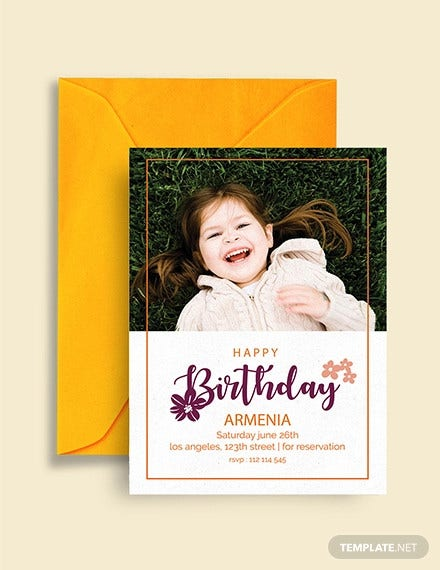 editable happy birthday invitation