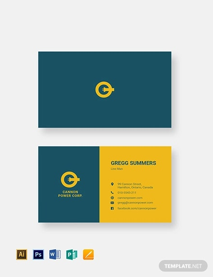 electrical service business card