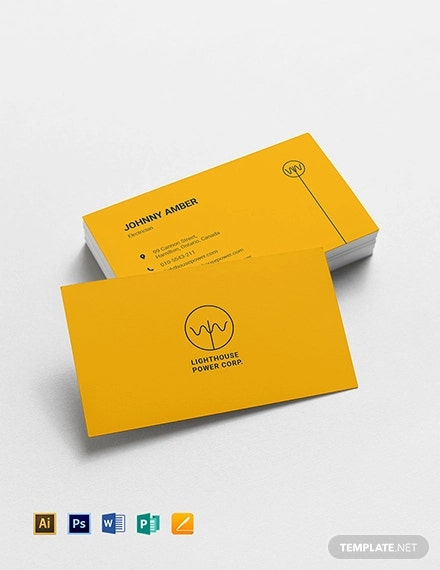 17 Electrician Business Card Designs Templates Psd Ai Indesign Free Premium Templates