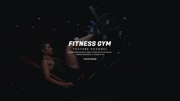 free gym youtube art template