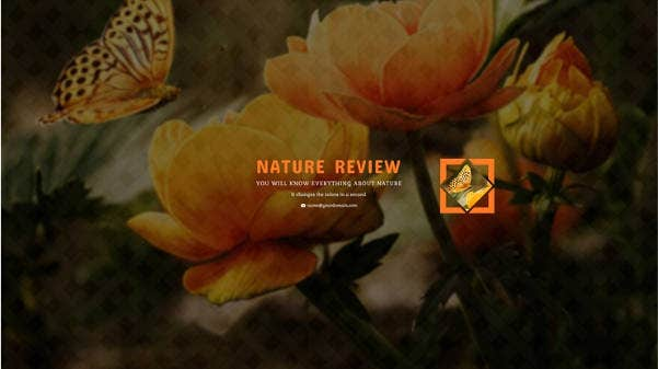 free nature channel art template