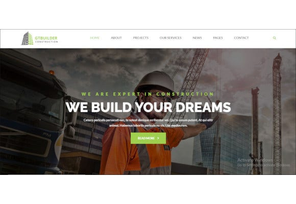 gtbuilder building construction html5 template