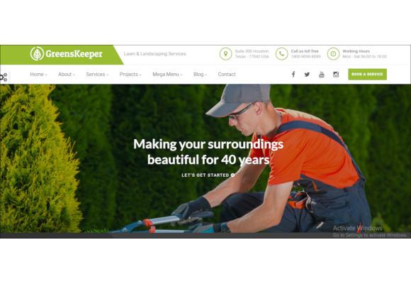 gardening landscaping responsive html5 template