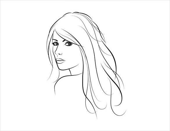 Easy drawing 21 free pdf jpg format download free premium girl face drawing template maxwellsz