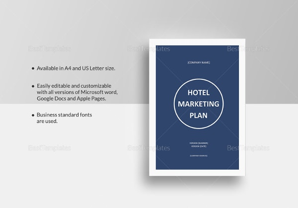 Microsoft Word Hotel Marketing Plan Template