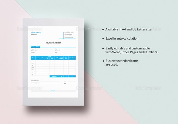 hourly timesheet template1