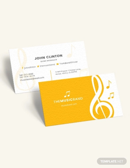 Music Business Card Details File Format