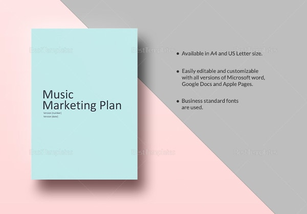 Music Marketing Plan Template in iPages