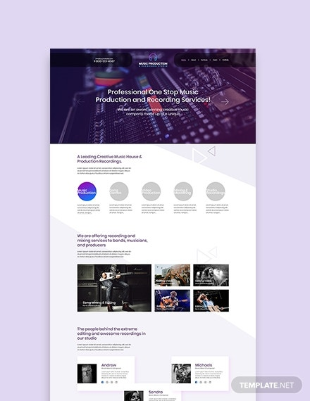 music production wordpress themetemplate