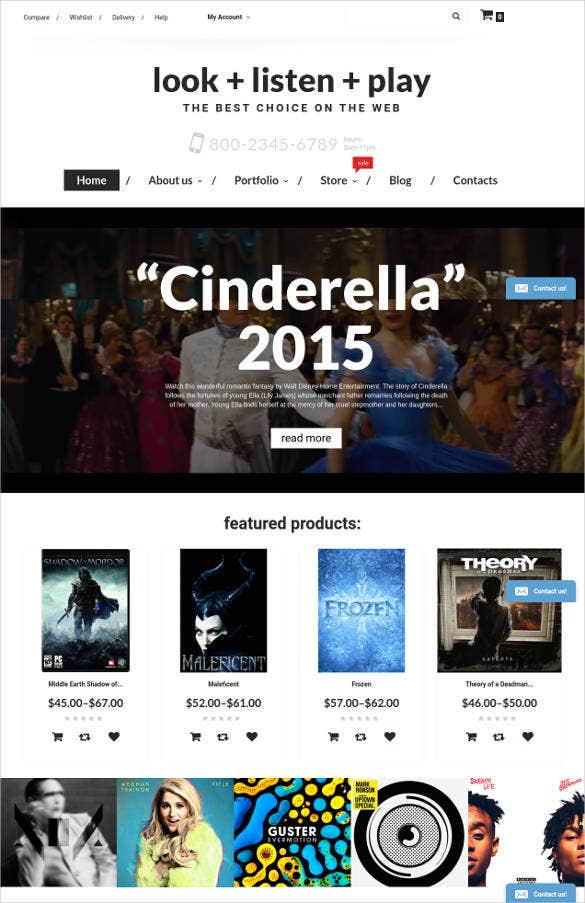 music store woocommerce html5 theme1