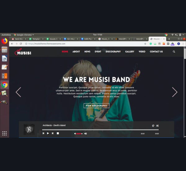 musicians bands wordpress theme