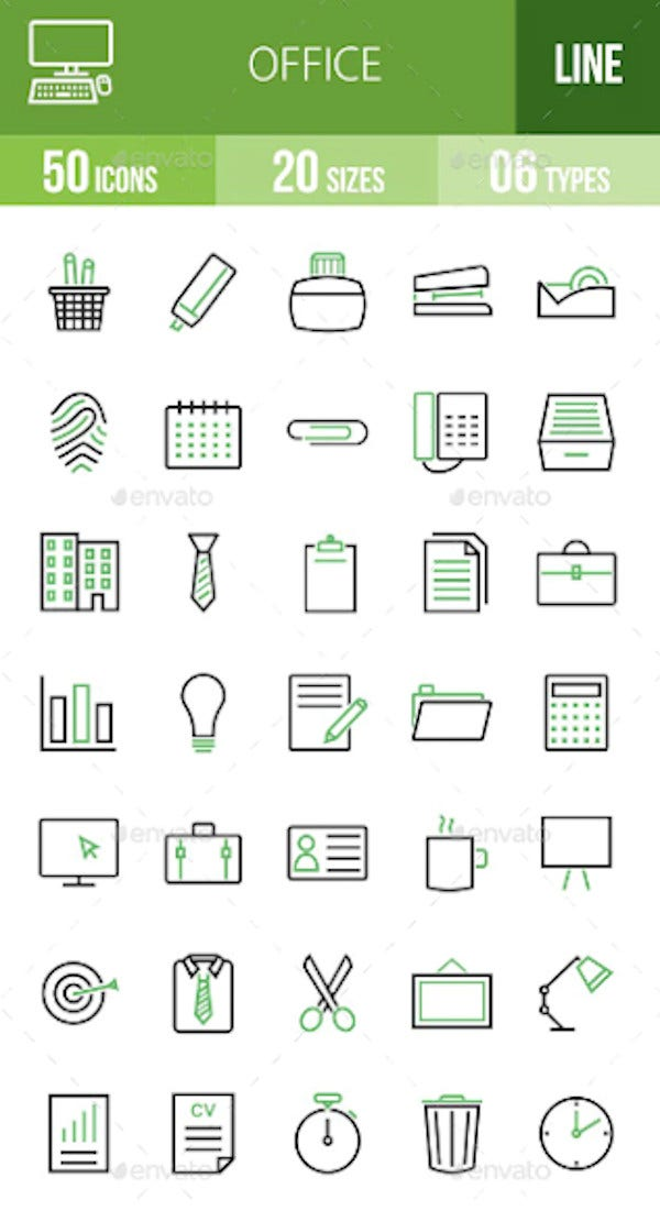 office green black icons1