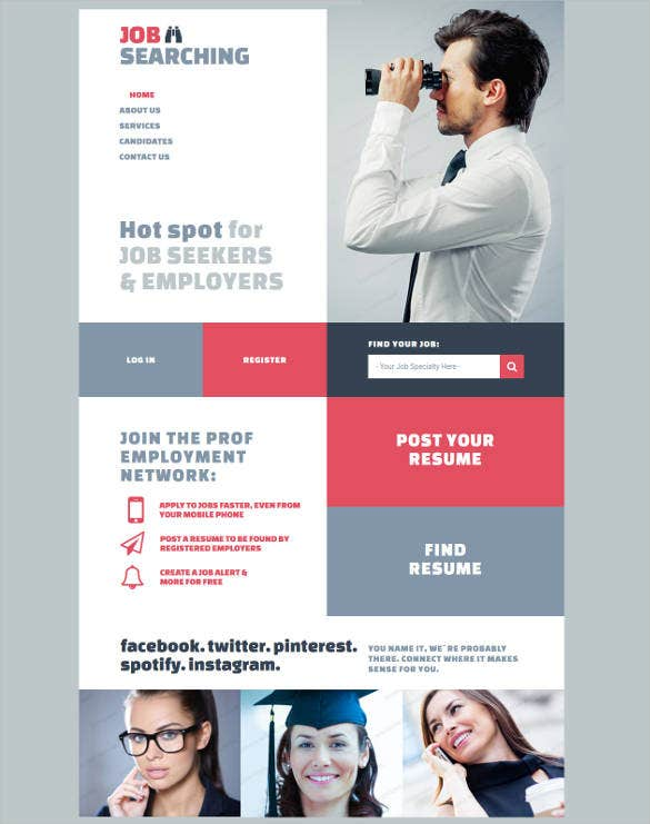 online job portal html5 website template