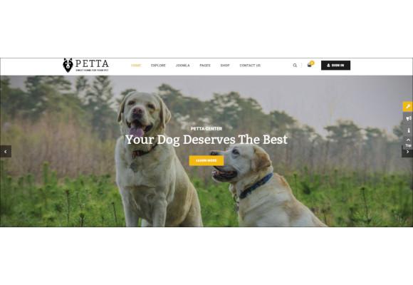 pet care service shop joomla template